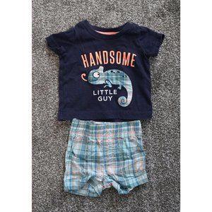 Carters 2 Pc Shirt Shorts Boys Newborn Outfit